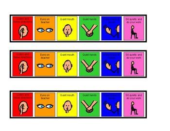 Visual Classroom Rules