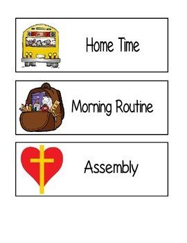 Visual Classroom Schedule