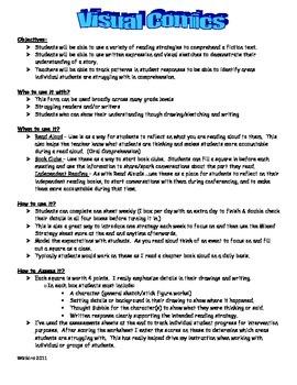 Visual Comics - Reader's Response Sheets