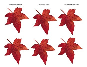 Visual Communication: The Leaves on the Tree. Autumn Songs.