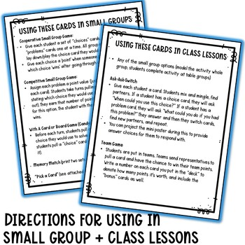 Conflict Resolution Task Cards (Visual) for Lower Elementary