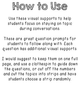 Visual Conversation Support: Elephants