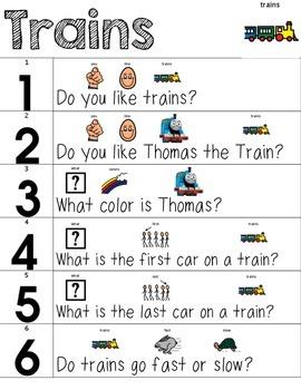 Visual Conversation Support: Trains