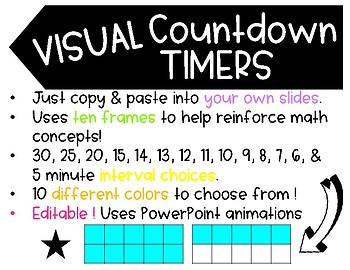 Visual Countdown Timers - Editable - COMMERCIAL License