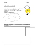 Visual Cue Card Friendly Resource- with English Recount Activity