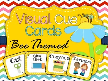 Visual Cue Cards - Bee Themed