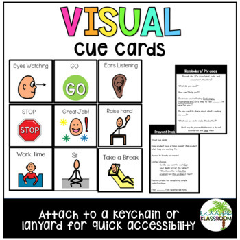 Visual Cue Cards - Lanyards