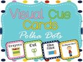 Visual Cue Cards: Polka Dot