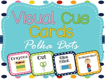 Visual Cue Cards: Polka Dot