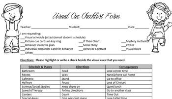 Visual Cue Checklist PDF