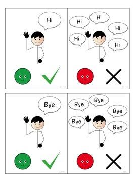 Visual Cues for Perseverative Verbal Behavior