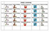 Visual Daily 5 Check in sheet