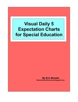 Visual Daily 5 Expectation Charts for Special Education