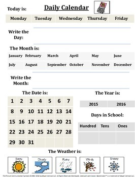 Visual Daily Calendar