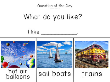 Visual Daily Questions (Question of the Day) for the Year *real pictures*