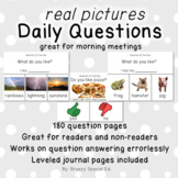 Distance Learning: Visual Daily Questions (Question of the Day) *real pictures*