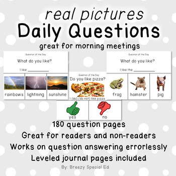 Visual Daily Questions for the Year (real pictures) for Sp
