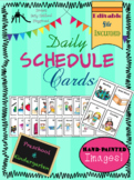 Visual Daily Schedule Cards for Preschool & Kindergarten - With EDITABLE File