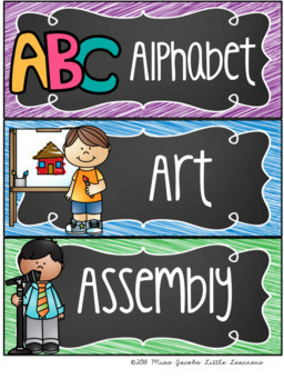 Visual Timetable {Chalkboard}