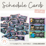 Visual Timetable {Editable - Chalkboard}