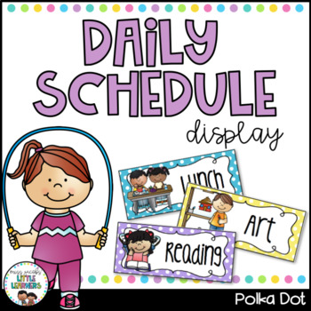 Daily Schedule - Polka Dot