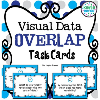 Visual Data Overlap Task Cards: 7.SP.3