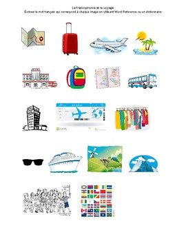 "Visual Dictionary - ""Le Voyage"" Unit"