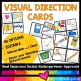 Visual Direction Cards - help kids SEE & remember what you