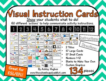 Visual Direction Cards: 57 Terms {A Hughes Design}