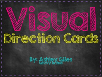 Visual Direction Cards (Chalk Theme)