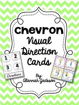 Visual Direction Cards - Chevron