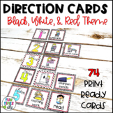 Visual Direction Cards EDITABLE (Black, White, & Red Theme)
