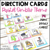Visual Direction Cards EDITABLE Pastel Ombre