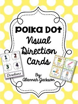 Visual Direction Cards - Polka Dot