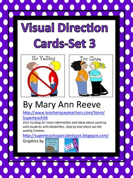 Visual Direction Cards Sample FREEBIE