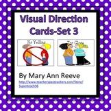 Visual Direction Cards Set 3 (Autism)