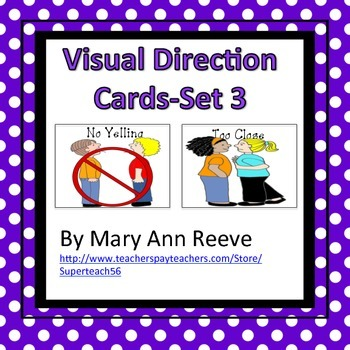 Visual Direction Cards Set 3 (Autism)