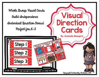 Visual Direction Cards: Whole Group and Individualized (RED)