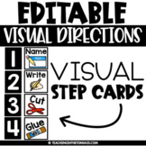 Editable Visual Direction Cards