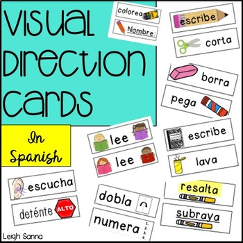 Visual Direction Cards in Spanish