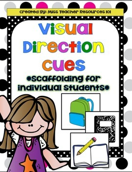 Visual Direction Cues - Scaffolding for ELL's, Special Education
