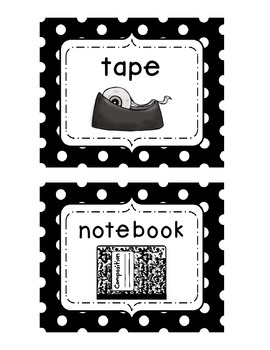 Visual Directional/Transitional Cards {Elementary}