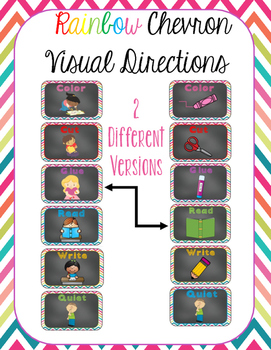 Rainbow Chevron Visual Directions