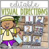 Visual Directions Cards - Editable