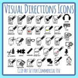 Visual Directions / Cues / Following Directions Icons Clip Art Commercial Use