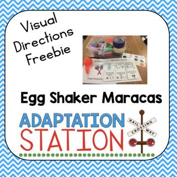 Visual Directions Egg Shaker Maraca Freebie!