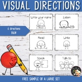 Visual Directions Flashcards Free Sample