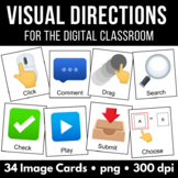 Visual Directions Clipart | PNG Images | Distance Learning | Digital Classroom
