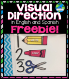 Visual Directions in English and Spanish FREEBIE