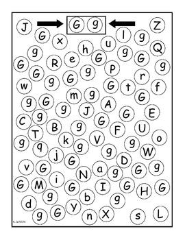 Visual Discrimination Alphabet Letter Search